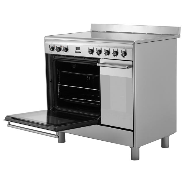 Smeg Concert SUK92CBL9 Electric Range Cooker - Black - SUK92CBL9_BK - 4