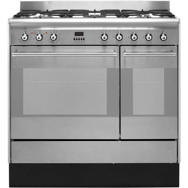 Smeg Concert Dual Fuel Range Cooker - Stainless Steel - A Rated