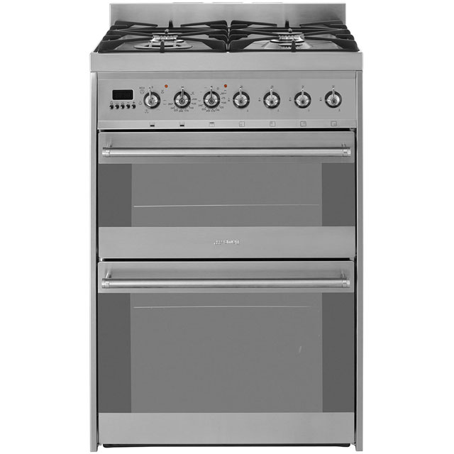 Smeg Symphony SY62MX8 Dual Fuel Cooker - Stainless Steel - A/A Rated - SY62MX8_SS - 1