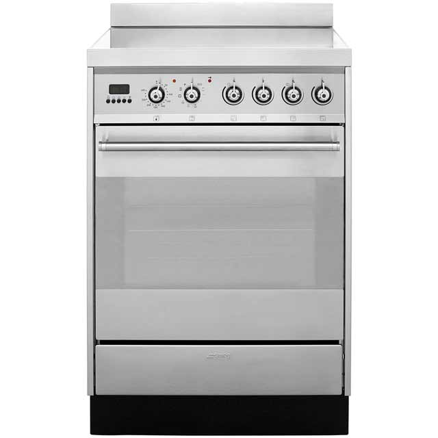 Smeg Symphony SY6CPX8 Electric Cooker with Ceramic Hob - Stainless Steel - A Rated - SY6CPX8_SS - 1