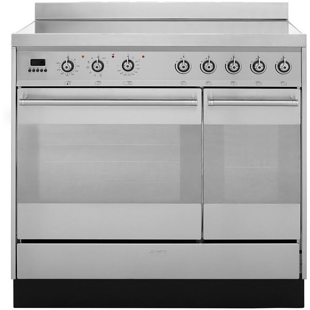 Smeg Symphony SY92IPX8 90cm Electric Range Cooker with Induction Hob - Stainless Steel - A/A Rated - SY92IPX8_SS - 1