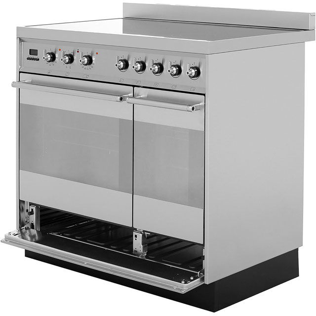 Smeg SY92IPX8 Symphony 90cm Electric Range Cooker - Stainless Steel - SY92IPX8_SS - 3