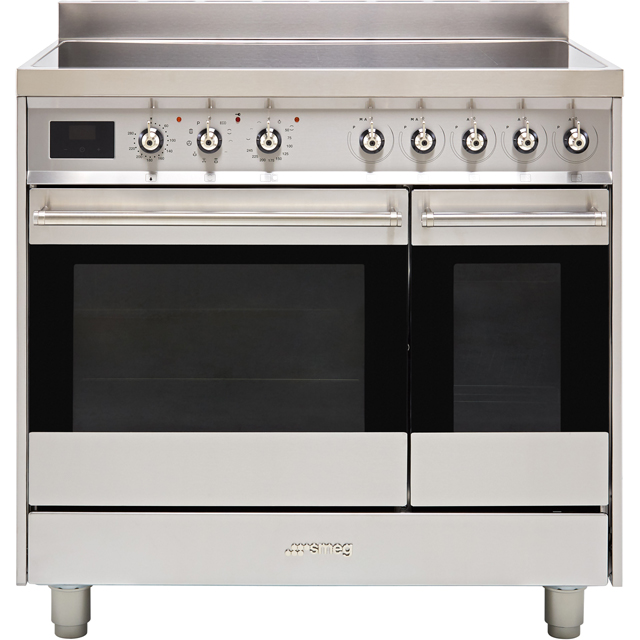 Smeg Symphony SY92IPX9 90cm Electric Range Cooker with Induction Hob - Stainless Steel - A/A Rated
