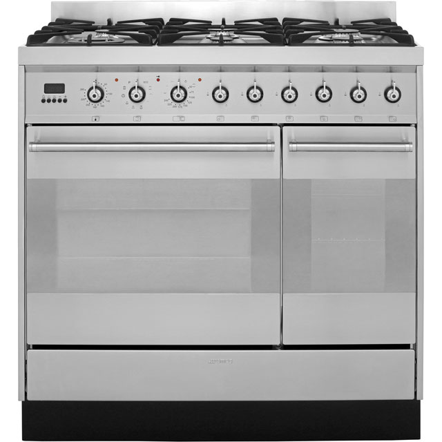 Smeg Symphony 90cm Dual Fuel Range Cooker - Stainless Steel - A/A Rated