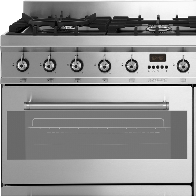 Smeg SY93 Symphony 90cm Dual Fuel Range Cooker - Stainless Steel - SY93_SS - 2