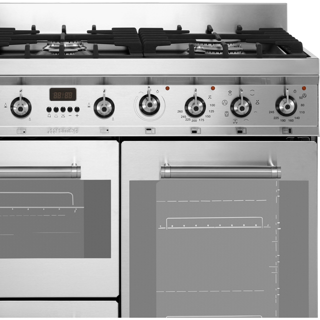 Smeg SY93 Symphony 90cm Dual Fuel Range Cooker - Stainless Steel - SY93_SS - 3