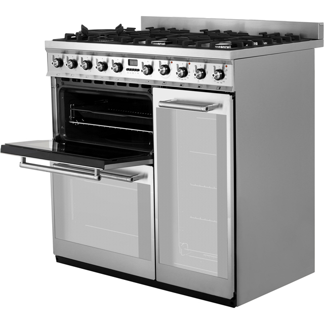 Smeg SY93 Symphony 90cm Dual Fuel Range Cooker - Stainless Steel - SY93_SS - 4