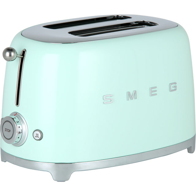 Smeg 50s Retro Toaster in Pastel Green