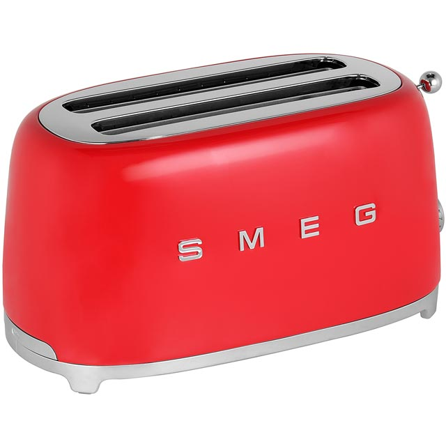 Smeg 50's Retro 4 Slice Toaster - Red