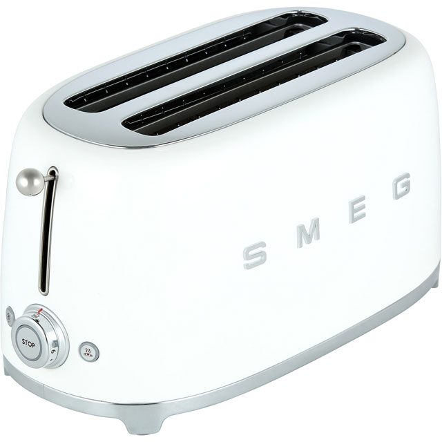 Smeg 50's Retro 4 Slice Toaster - White