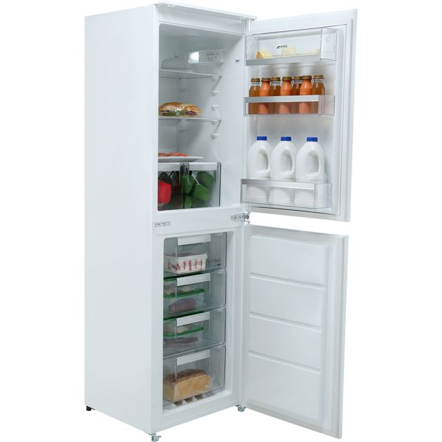 Smeg Integrated 50/50 Frost Free Fridge Freezer with Sliding Door Fixing Kit - White - A+ Rated