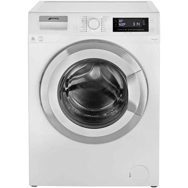 Smeg 9Kg Washing Machine - White / Chrome - A+++ Rated