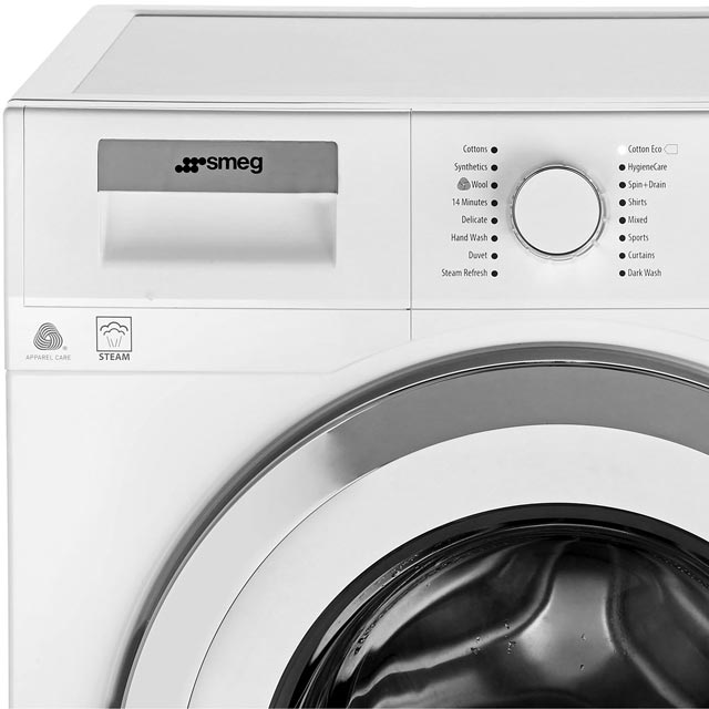 Smeg WMF916AUK 9Kg Washing Machine - White / Chrome - WMF916AUK_WH - 4