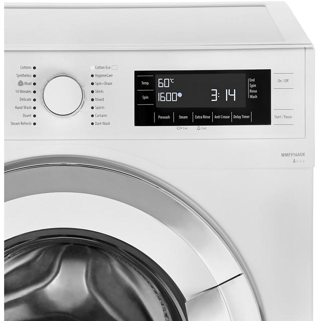 Smeg WMF916AUK 9Kg Washing Machine - White / Chrome - WMF916AUK_WH - 5