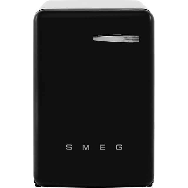 Smeg 50's Retro WMFABBL-2 7Kg Washing Machine with 1400 rpm - Black - A++ Rated - WMFABBL-2_BK - 1