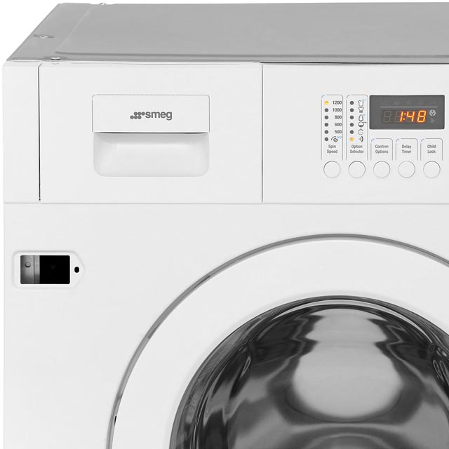 Smeg Cucina WMI12C7 Built In 7Kg Washing Machine - White - WMI12C7 - 2