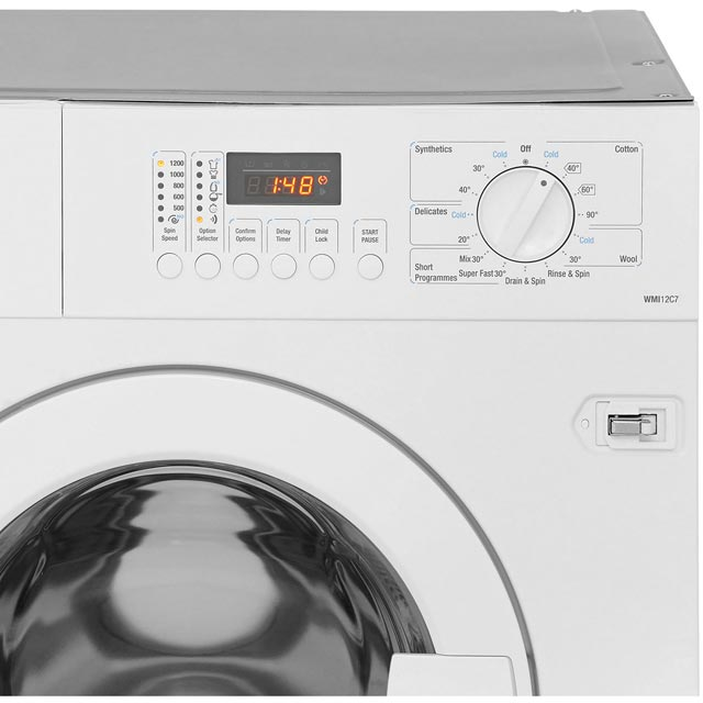 Smeg Cucina WMI12C7 Built In 7Kg Washing Machine - White - WMI12C7 - 3