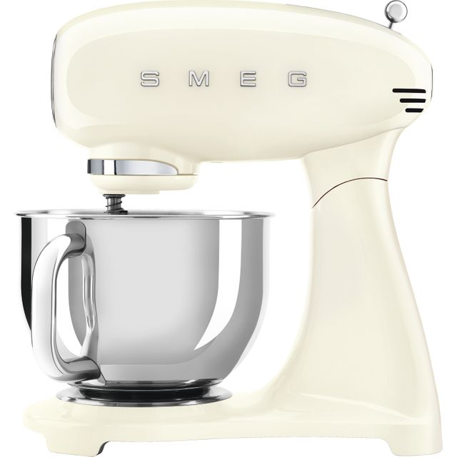 Smeg 50's Retro SMF03CRUK Stand Mixer with 4.8 Litre Bowl - Cream