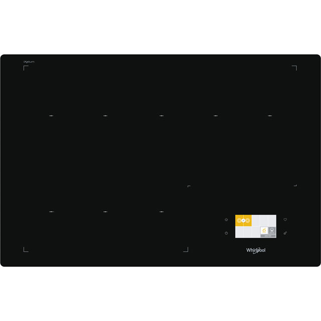 Whirlpool W Collection SMF778C/NE/IXL 77cm Induction Hob - Black - SMF778C/NE/IXL_BK - 1