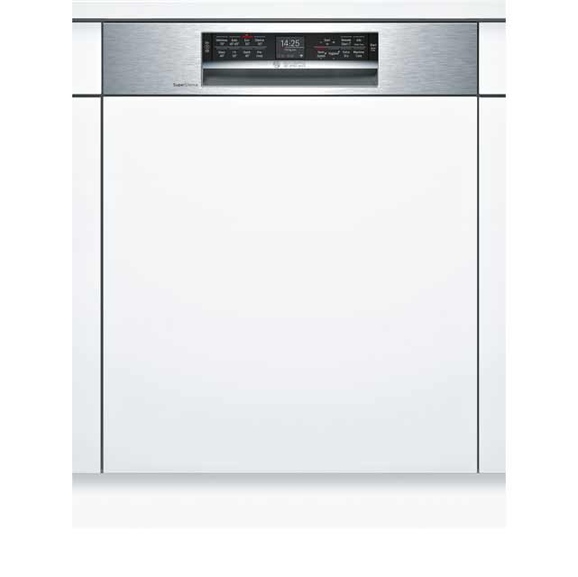 Bosch Serie 6 SMI68MS06G Semi Integrated Standard Dishwasher - Stainless Steel - SMI68MS06G_SS - 1
