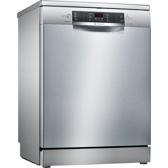 Bosch Serie 4 SMS46II01G Standard Dishwasher - Stainless Steel - A++ Rated