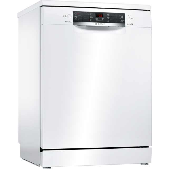Bosch Serie 4 SMS46IW02G Standard Dishwasher - White Best Price, Cheapest Prices