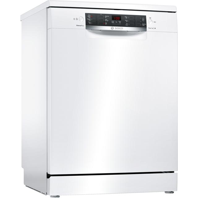 Bosch Serie 4 SMS46IW09G Standard Dishwasher - White - A++ Rated