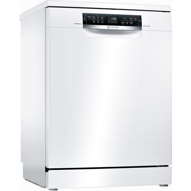 Bosch Serie 6 SMS67MW00G Standard Dishwasher - White Best Price, Cheapest Prices