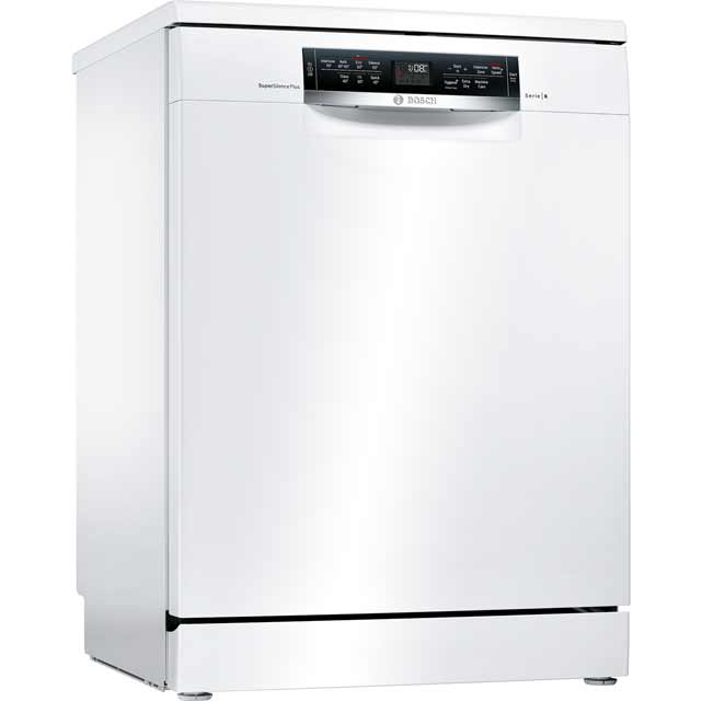 Bosch Serie 6 SMS67MW01G Standard Dishwasher - White Best Price, Cheapest Prices