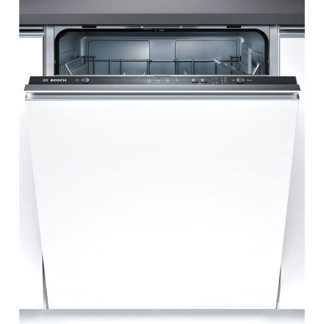 Bosch Serie 2 Fully Integrated Standard Dishwasher - Black with Fixed Door Fixing Kit - A+ Rated