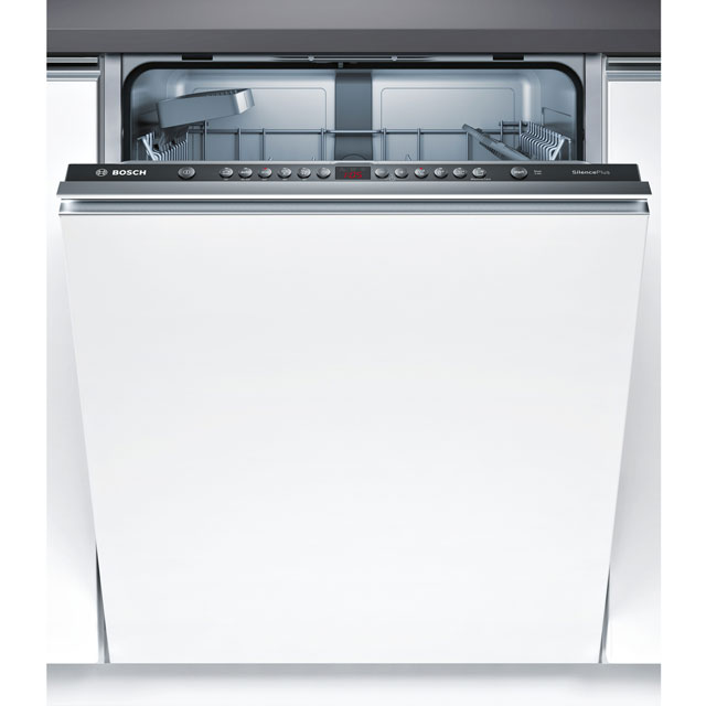 Bosch Serie 4 Fully Integrated Standard Dishwasher - Black with Fixed Door Fixing Kit - A++ Rated