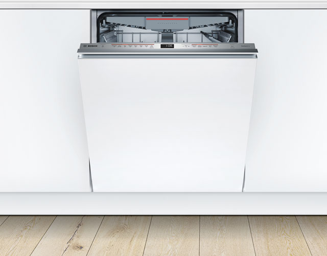 Bosch Serie 6 SMV68MD00G Fully Integrated Standard Dishwasher - Stainless Steel Control Panel with Fixed Door Fixing Kit - A+++ Rated - SMV68MD00G_SS - 1