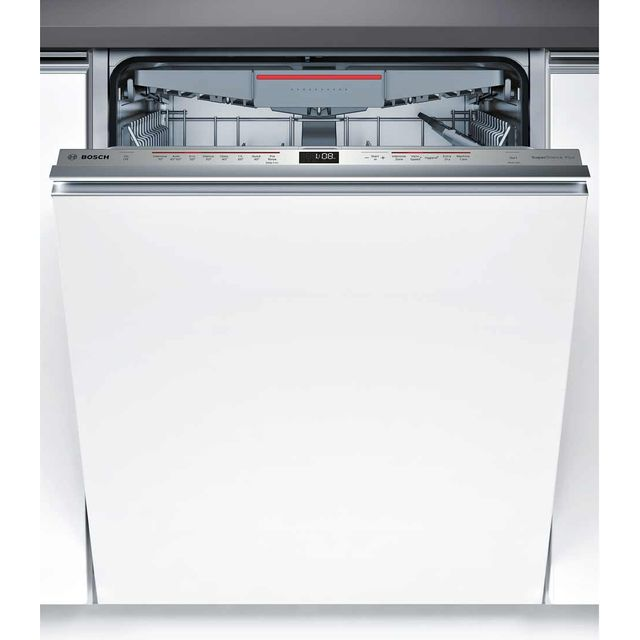 Bosch Serie 6 SMV68MD01G Fully Integrated Standard Dishwasher - Stainless Steel Control Panel with Fixed Door Fixing Kit - A+ Rated - SMV68MD01G_SS - 1