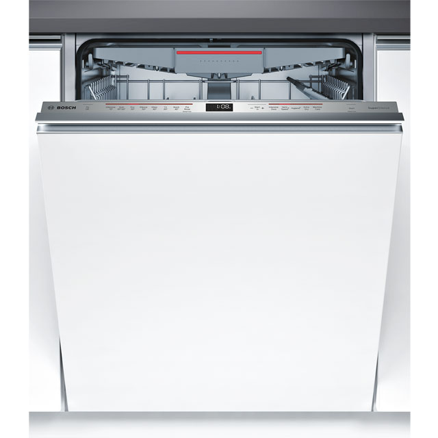 Bosch Serie 6 SMV68MD02G Fully Integrated Standard Dishwasher - Stainless Steel Control Panel with Fixed Door Fixing Kit - A++ Rated - SMV68MD02G_SS - 1