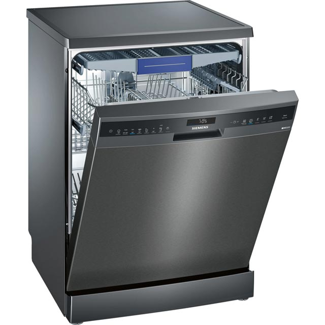 Siemens IQ-500 SN258B00ME Standard Dishwasher - Black - A++ Rated