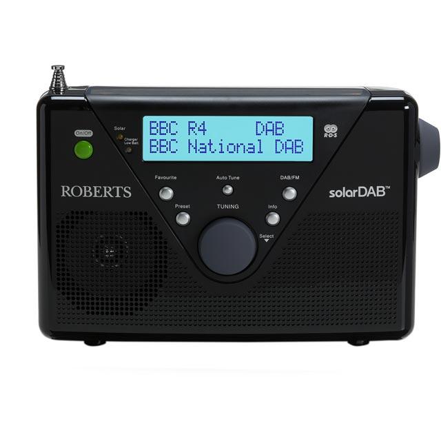 roberts radio solardab2bk solar portable dab digital radio. Black Bedroom Furniture Sets. Home Design Ideas
