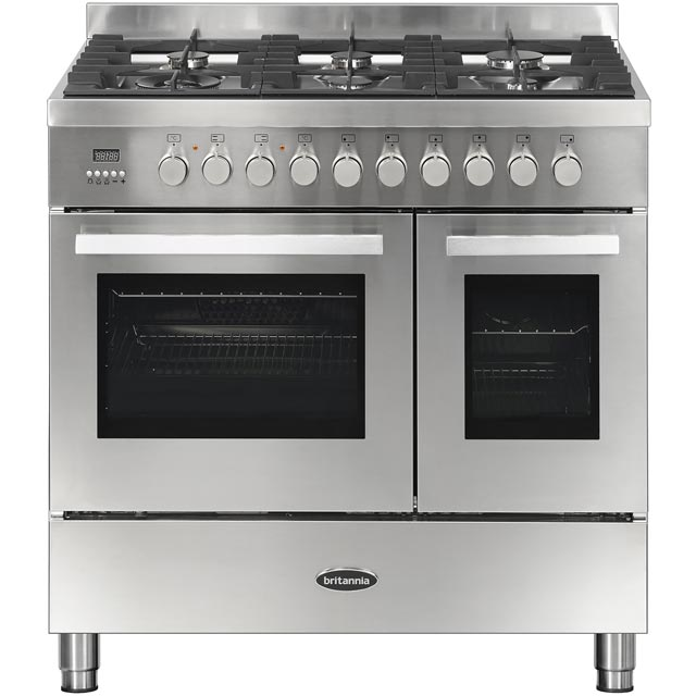 Britannia Sonetto 90DF TC 90cm Dual Fuel Range Cooker - Stainless Steel - A/A+ Rated - Sonetto 90DF TC_SS - 1