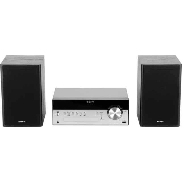 Sony CMT-SBT100B 50 Watt Mini Hi-Fi System with Bluetooth - Black - CMT-SBT100B - 1