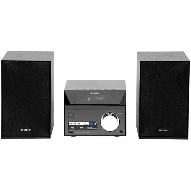 Sony CMT-SBT40D 50 Watt Mini Hi-Fi System with Bluetooth - Black