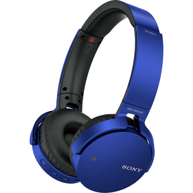 Sony MDR-XB650BT Over-Ear Wireless Headphones - Blue