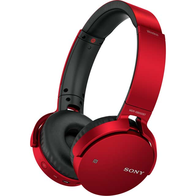Sony MDR-XB650BT Over-Ear Wireless Headphones - Red