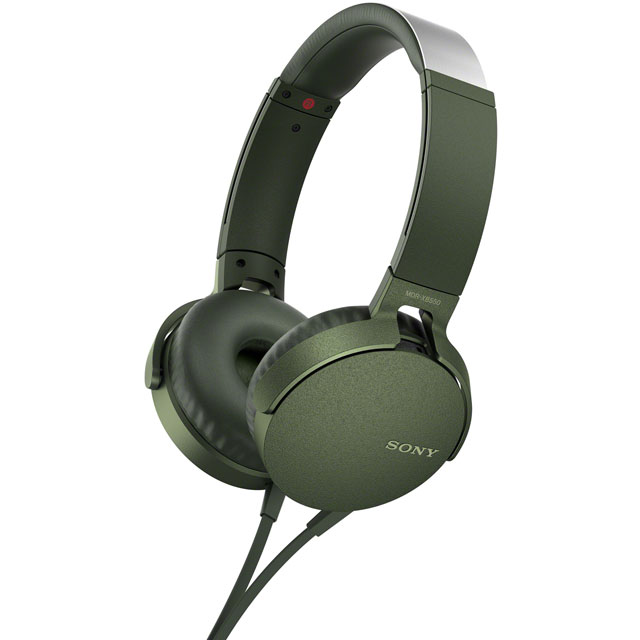 Sony MDR-XB550AP On-Ear Wired Headphones - Green - MDRXB550APG - 1