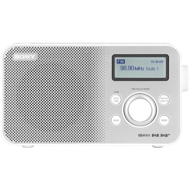Sony XDR-S60DBPW DAB / DAB+ Digital Radio with FM Tuner - White - XDR-S60DBPW - 1