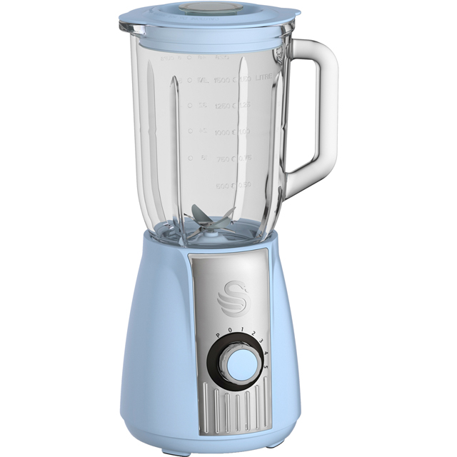 Swan Retro SP20180BLN 1.5 Litre Blender - Blue - SP20180BLN_BL - 1