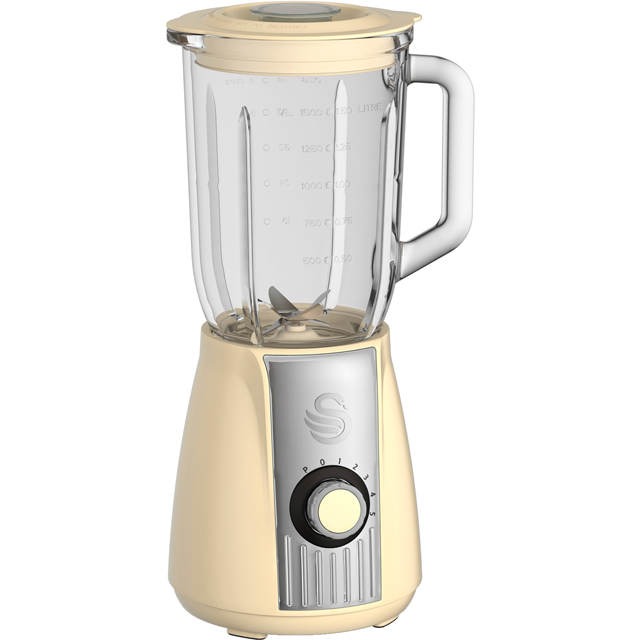 Swan Retro SP20180CN 1.5 Litre Blender - Cream - SP20180CN_CR - 1