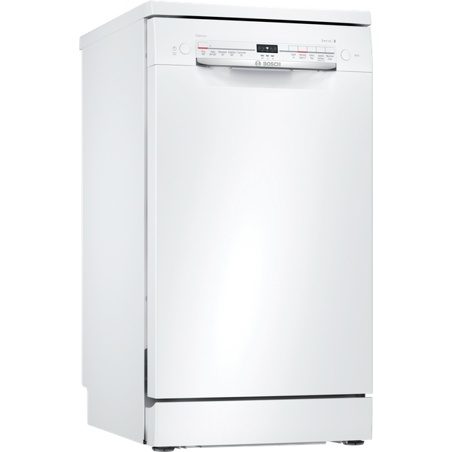 Bosch Serie 2 SPS2IKW04G Wifi Connected Slimline Dishwasher - White - F Rated