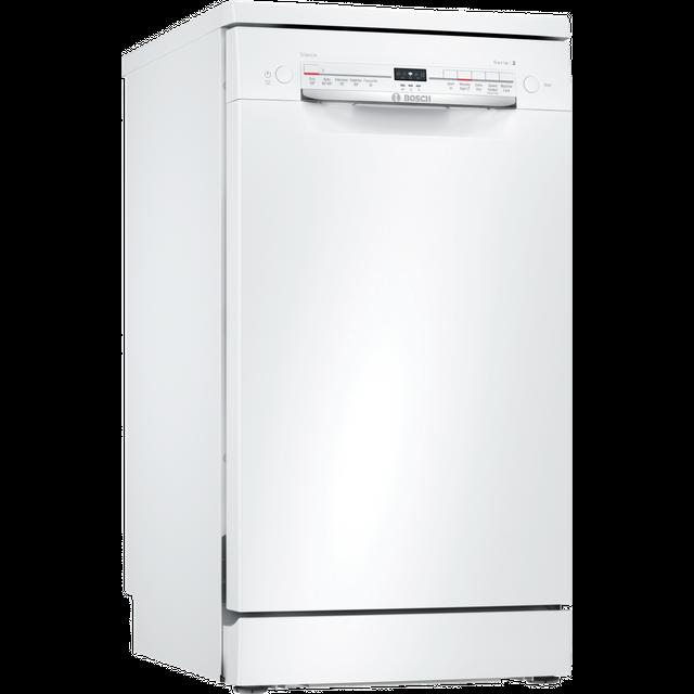 BOSCH SPS2IKW04G Slimline WiFi-enabled Dishwasher – White, White