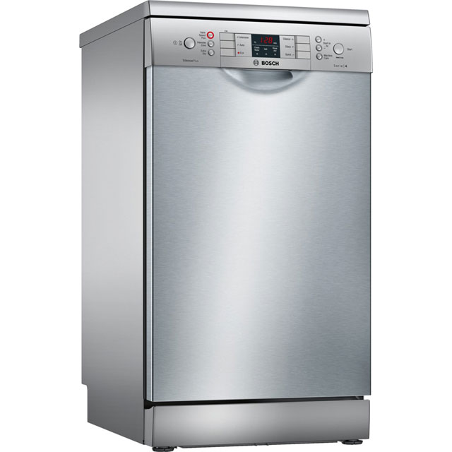 Bosch Serie 4 Slimline Dishwasher - Silver - A+ Rated