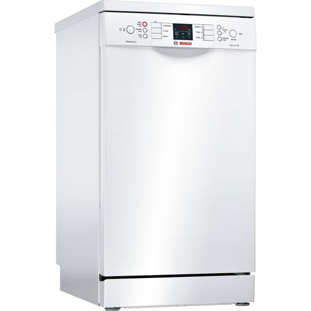 Bosch Serie 4 Free Standing Slimline Dishwasher in White