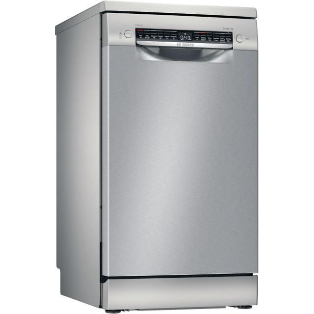 Bosch Serie 4 SPS4HKI45G Wifi Connected Slimline Dishwasher - Silver - E Rated